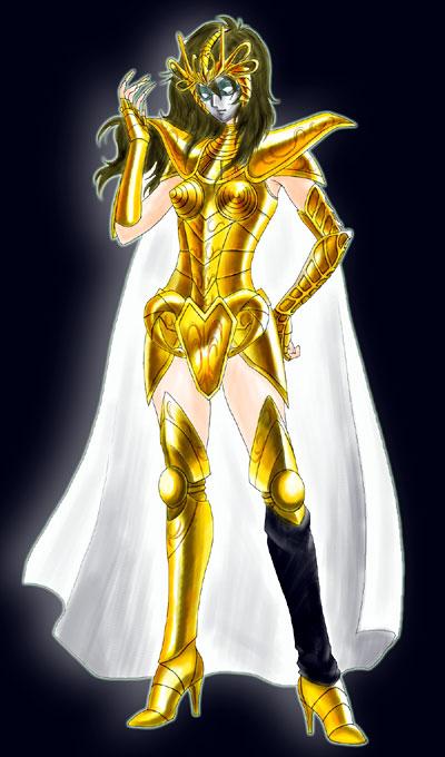 Shina-armure d'or par Kytomi Shina